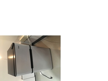 Haier Mini Refrigerator with freezer in Virtual Steel